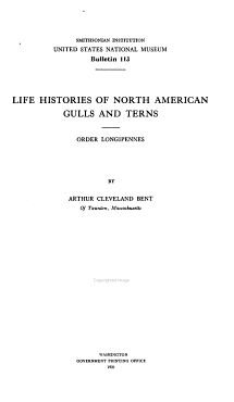 Life Histories of North American Gulls and Terns PDF