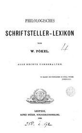 Philologisches Schriftsteller-Lexikon