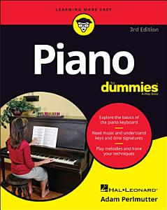 Piano For Dummies  3rd Edition Book