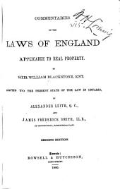 Commentaries on the Laws of England Applicable to Real Property