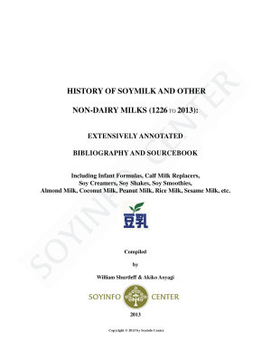History of Soymilk and Other Non Dairy Milks  1226 2013