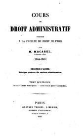 Cours de droit administratif: Volume4