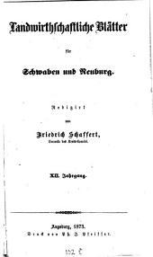 Landwirtschaftliche Blätter für Schwaben und Neuburg: Band 12