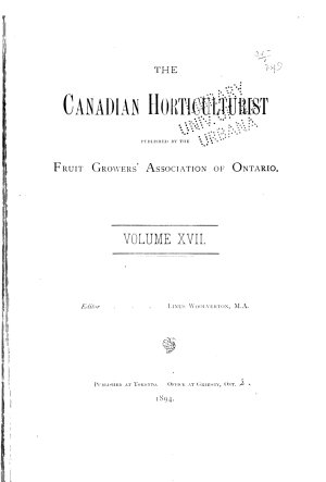 Canadian horticulture and home magazine