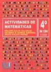 Actividades de Matemáticas. 4º ESO