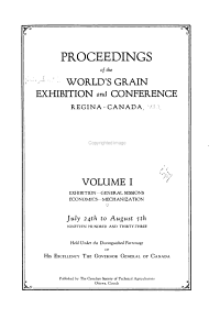 Proceedings of the World s Grain Exhibition and Conference  Regina  Canada     July 24th to August 5th  Nineteen Hundred and Thirty three PDF