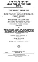 Salvage Timber and Forest Health PDF