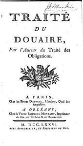 Traité du douaire