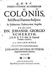 Diss. acad. de coloniis
