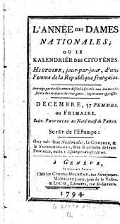 L'Annee des dames nationales; ou histoire jour-par-jour, d'une femme de France: Volume12