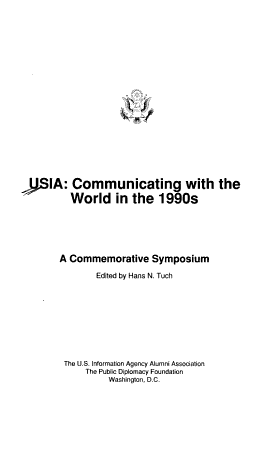 USIA  Communicating with the World in the 1990s PDF