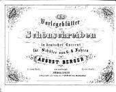 Vorlegeblätter zum Schönschreiben in deutscher Current: Erste Stufe, Band 1