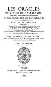 Les oracles de Michel de Nostredame: Volume2