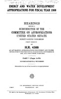 Energy and Water Development Appropriations for Fiscal Year 1980 PDF