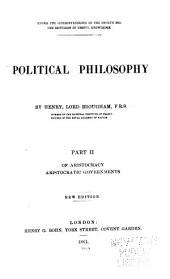 Political philosophy: Volume 2