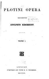 Plotini Opera: Volume 1