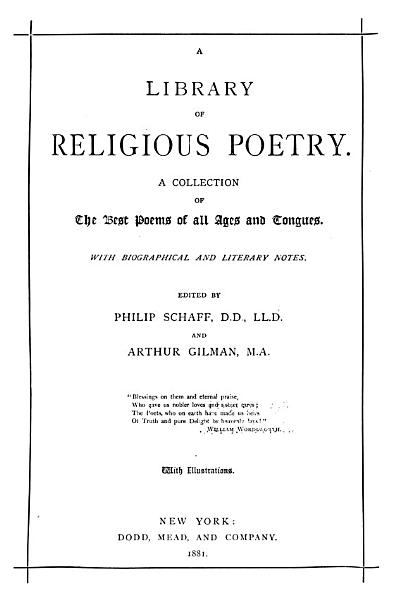 A Library of Religious Poetry