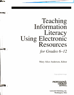 Teaching Information Literacy Using Electronic Resources for Grades 6 12 PDF