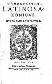 Nomenclator Latino-saxonicus