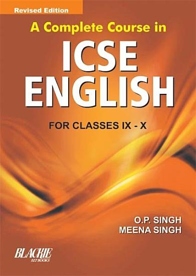 A Complete Course In ICSE Eng  IX And X PDF
