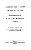 Analysis and theory of the emotions  with dissertations on beauty   c    PDF