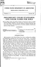 Preliminary color standards and color names for soils: Volumes 424-428