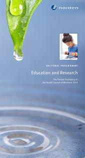 Sectoral programme Education and Research: The Finnish Presidency in the Nordic Council of Ministers 2016