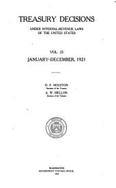 Treasury Decisions Under Internal Revenue Laws of the United States: Volume 23