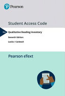 Pearson Etext 1.0 for Qualitative Reading Inventory-7 -- Access Card