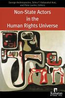 Non state Actors in the Human Rights Universe PDF