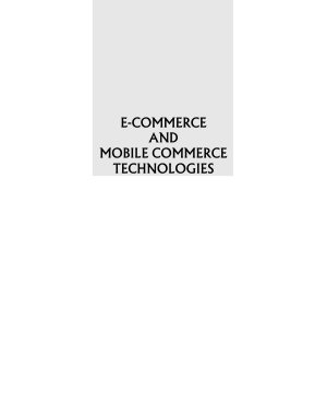 E Commerce and Mobile Commerce Technologies PDF