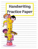 Handwriting Practice Paper Dotted Notebook