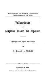 Volksglaube und religiöser Brauch der Zigeuner