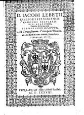 D. Iacobi Lebetii Lavezolii ... poeseos libri quatuor