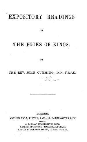 Expository Readings on the Books of Kings