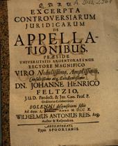 Excerpta Controversiarum Iuridicarum De Appellationibus