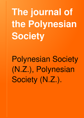 The Journal of the Polynesian Society: Volume 8