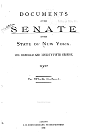 Documents of the Senate of the State of New York: Volume 16