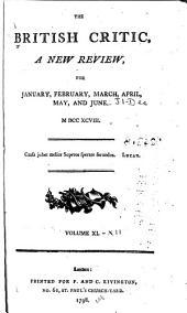 The British Critic: Volumes 11-12