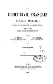 Le droit civil français: Volume2