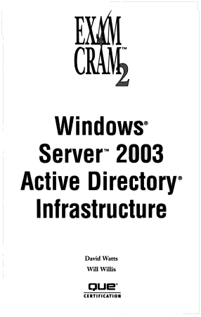 Windows Server 2003 Active Directory Infrastructure PDF