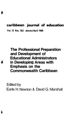 Caribbean Journal of Education PDF