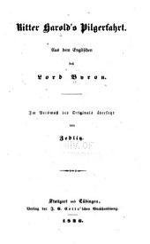 Ritter Harold's Pilgerfahrt: Aus dem Englischen