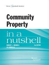 Mennell and Carrillo's Community Property in a Nutshell, 3d: Edition 3