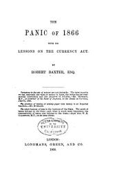 The Panic of 1866 with Its Lessons on the Currency Act