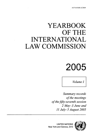 Yearbook of the International Law Commission PDF