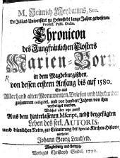 Chronik des Klosters Marien-Born
