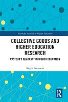 Collective Goods and Higher Education Research PDF