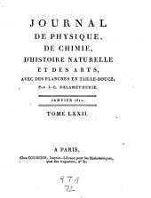 Observations et memoires sur la physique, sur l'histoire naturelle, et sur les arts et metiers: Volume72