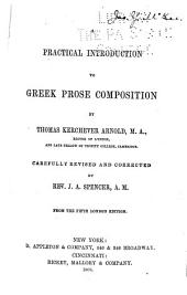 Practical Introduction to Greek Prose Composition